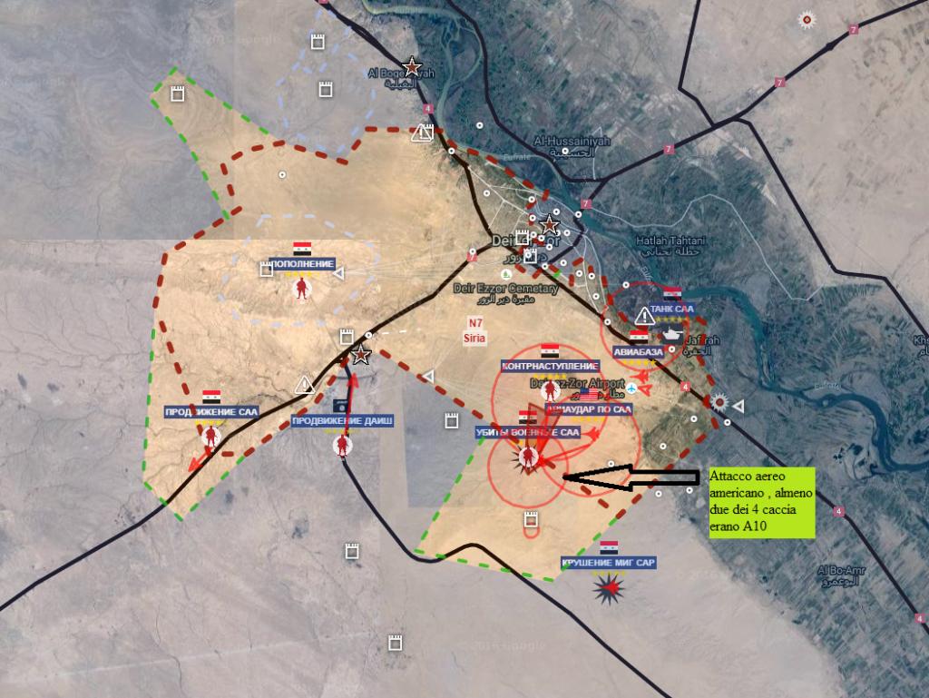 Deir Ezzour attacco aereo americano del 17-9-2016