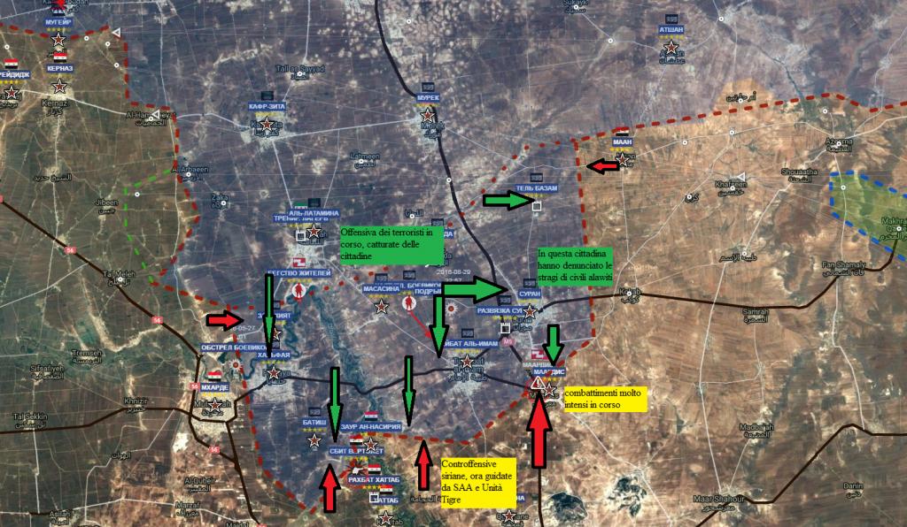 Hama, l'offensiva jihadista verso il capoluogo della provincia al 2-9-2016
