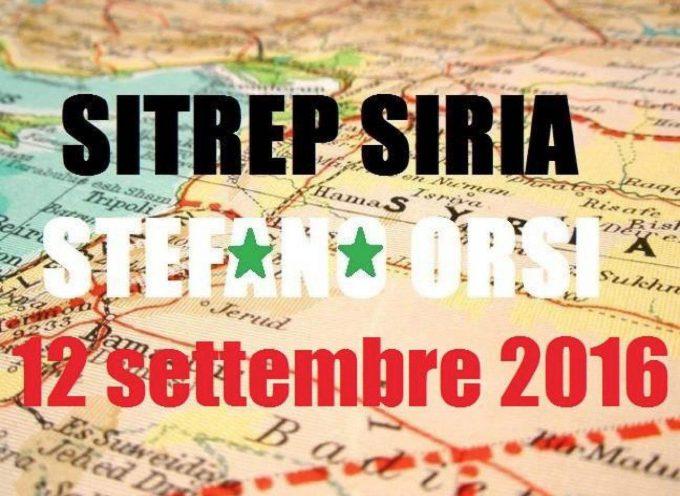 Situazione operativa sui fronti siriani al 12-09-2016