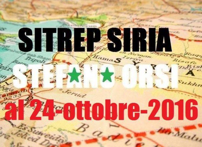Situazione operativa sui fronti siriani al 24-10-2016