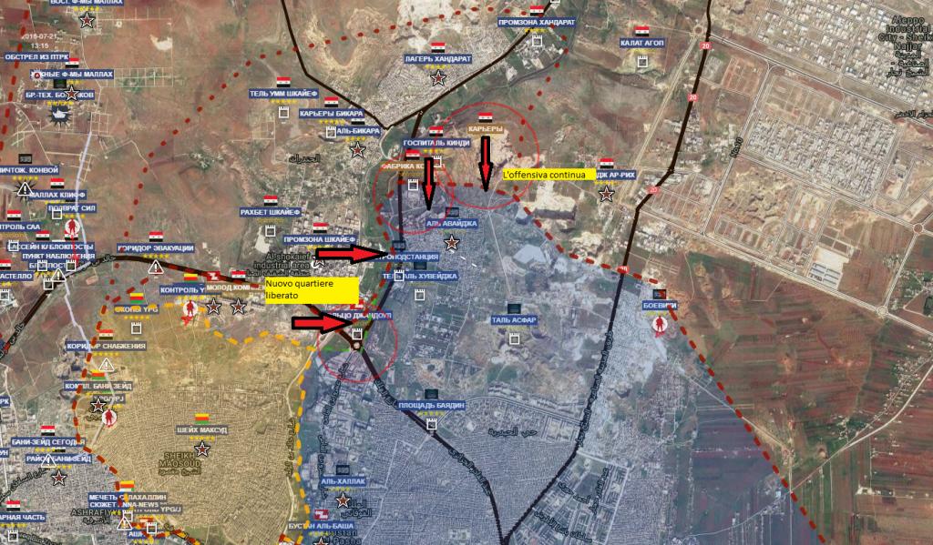 Aleppo 2-10-2016 il fronte nord