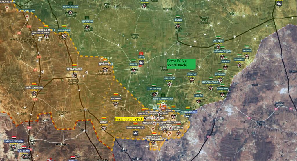Aleppo , la provincia a nord 24-10-2016
