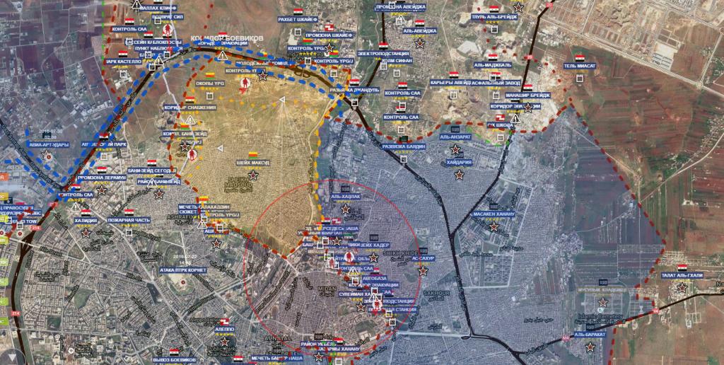 Aleppo est e nord ovest 24-10-2016