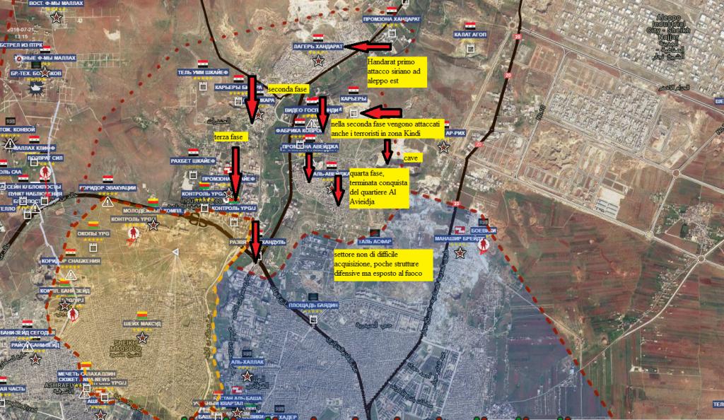Aleppo nord, i combattimenti e l'offensiva siriana attraverso i quartieri 8-10-2016