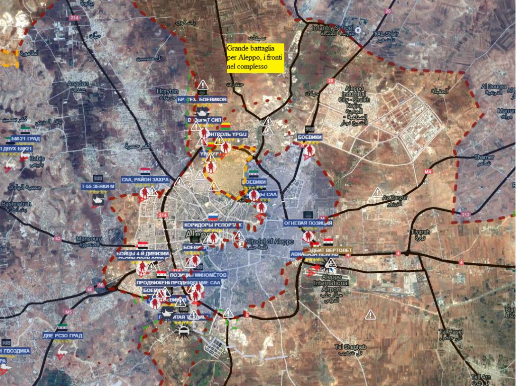 Aleppo, situazione al 8-10-2016