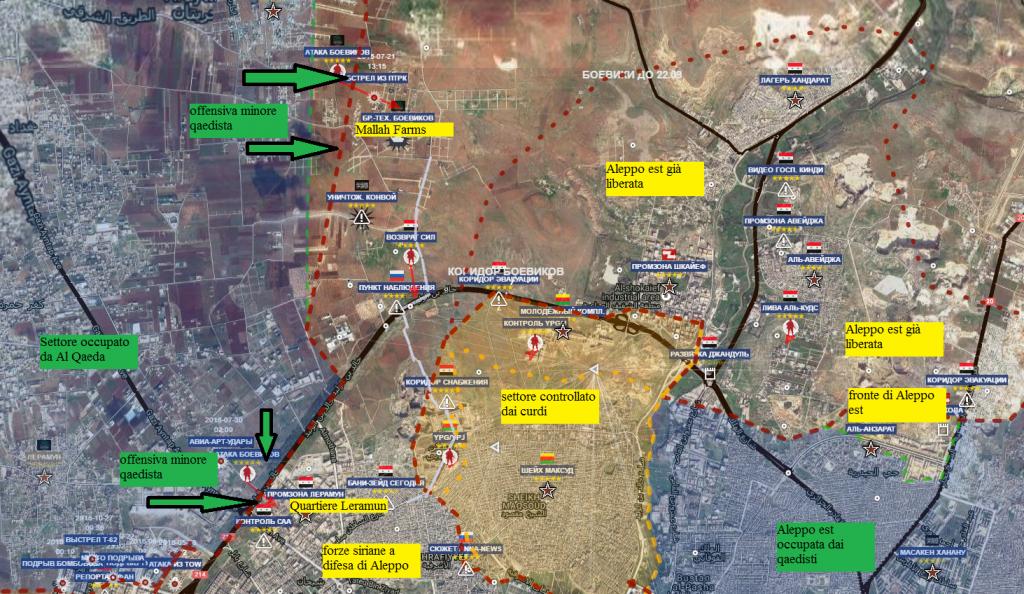 Aleppo nord ovest 28-10-2016 l'offensiva di Al Qaeda
