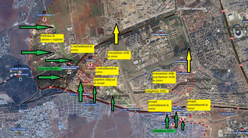 Aleppo sud ovest 28-10-2016 l'offensiva di Al Qaeda