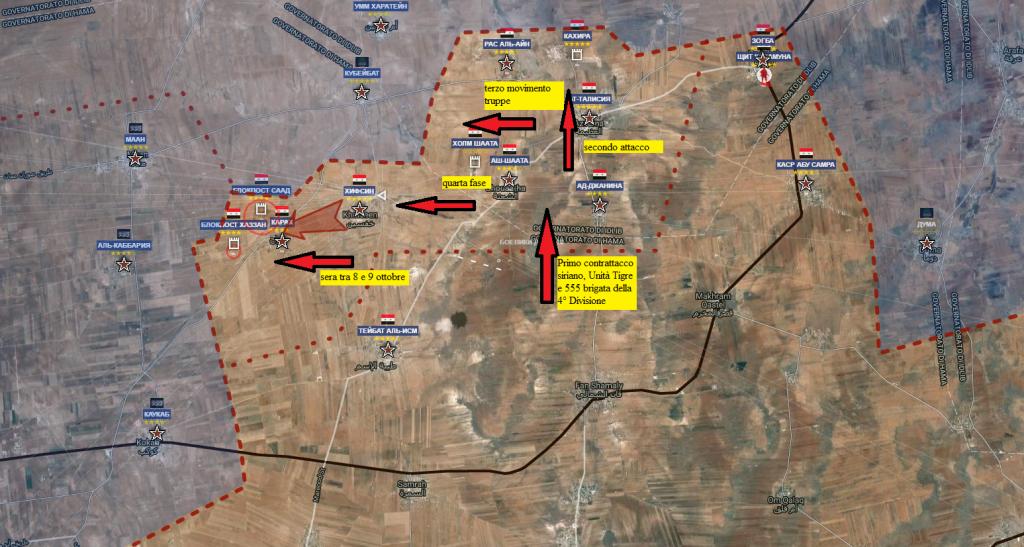 Hama, controffensiva siriana 8-10-2016