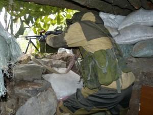 """Al Fronte: """"Di notte, nella città di Donetsk, anche in centro, capita frequentemente, di sentire i boati delle esplosioni, in lontananza, in direzione del fronte.""""  Foto di Eliseo Bertolasi"""