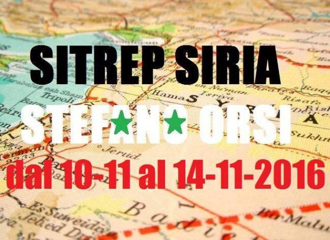 Situazione sui fronti siriani dal 9-11 al 14-11-2016