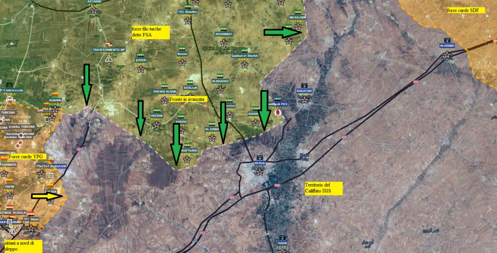 Nord della provincia di Aleppo  14-11-2016