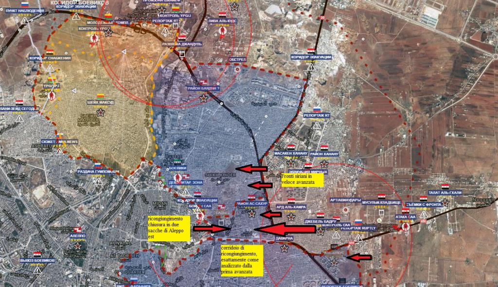 Aleppo est, l'offensiva risolutiva siriana su Aleppo est provoca il  panico tra i terroristi 27-11-2016