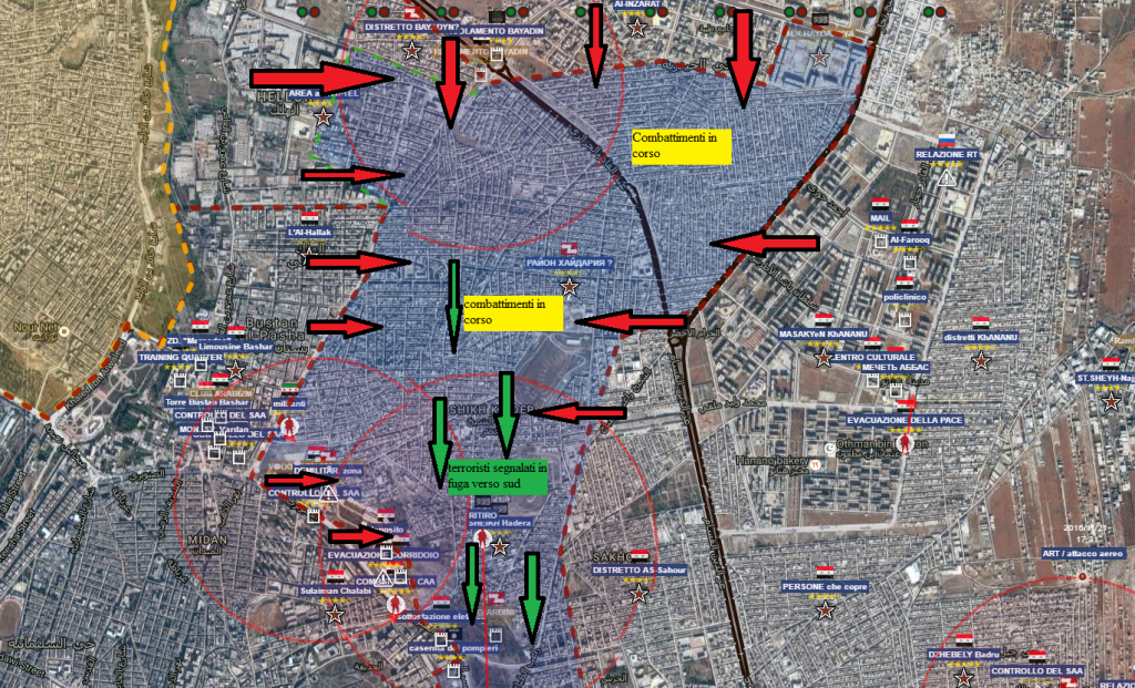 Aleppo est situazione alle ore 21,20 del 27-11-2016