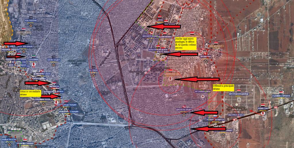 Aleppo est 26-11-2016 nella notte gli attacchi siriani