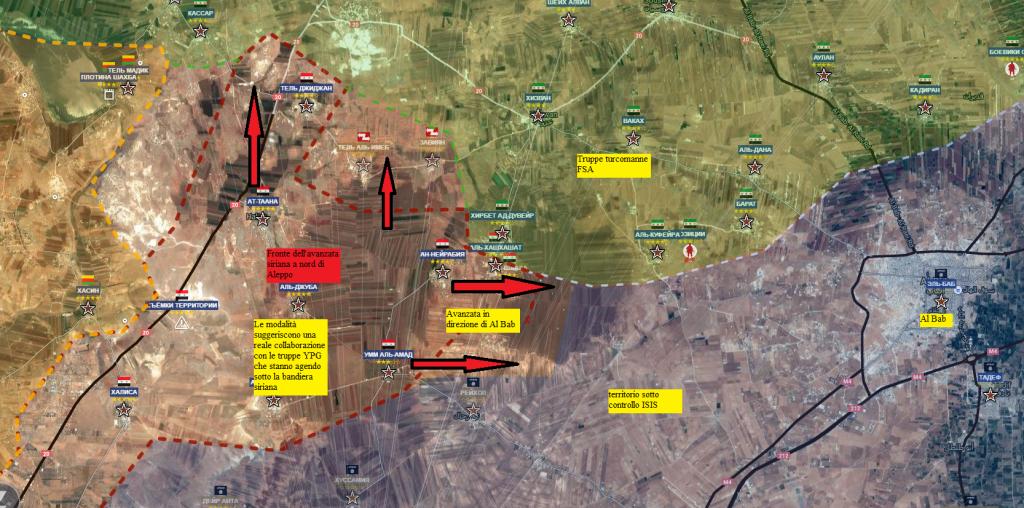 Aleppo, la provincia a nord, avanzata siriana verso Al Bab 27-11-2016