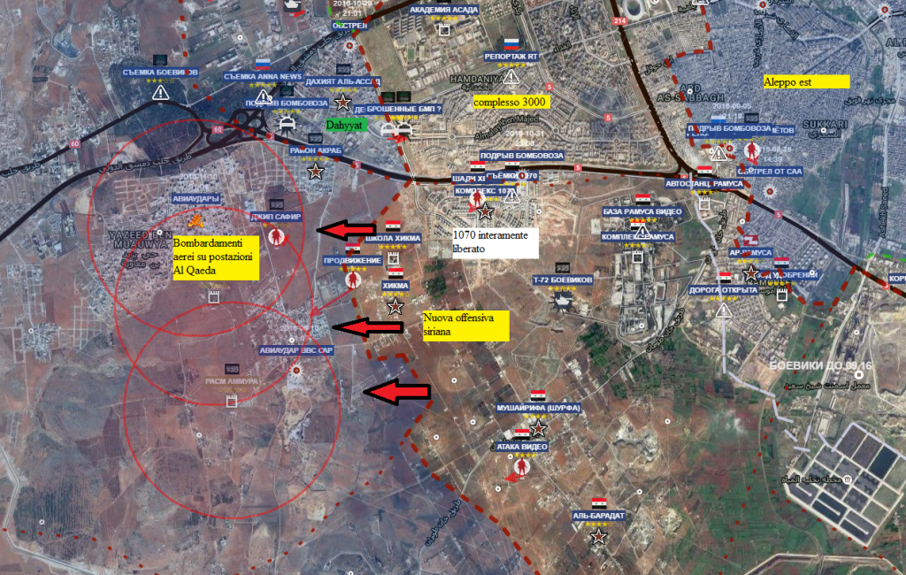 Aleppo sud ovest 9-11-2016