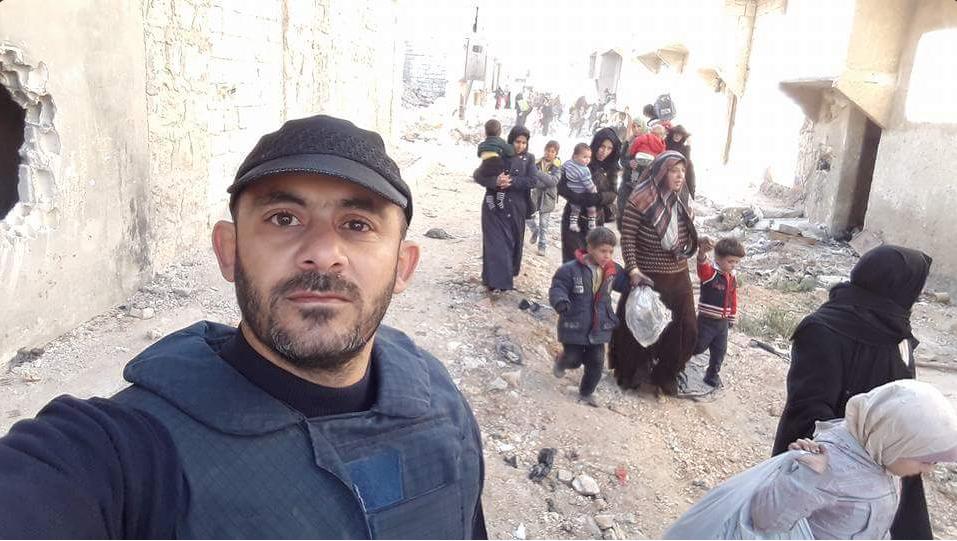 Civili in fuga da Aleppo est 27-11-2017