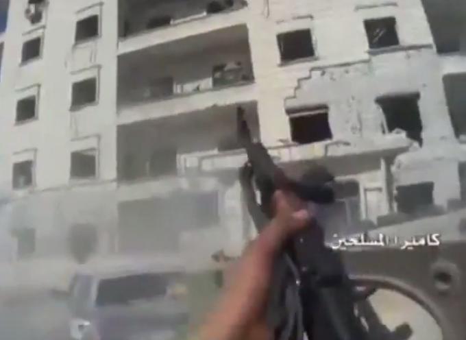 Battaglia di Aleppo – Riprese dalla telecamera di uno Jihadista morto