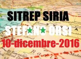 Situazione operativa in Siria del 10-12-2016