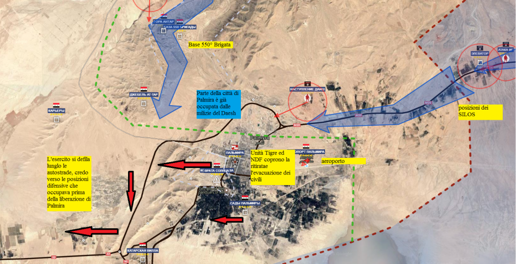 Palmira sera del 10-12-2016 Daesh dilaga