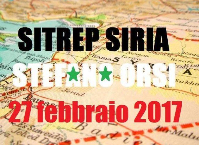 Situazione operativa dai fronti siriani del 27-2-2017
