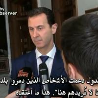 Assad intervistato da un giornalista belga