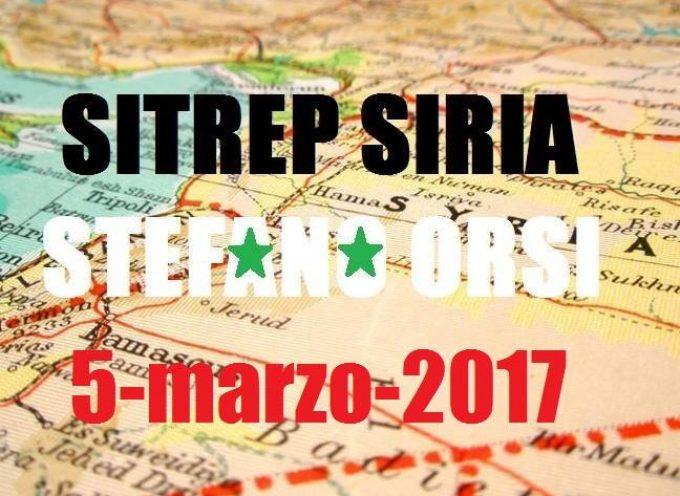 Situazione operativa sui fronti siriani del 5-3-2017