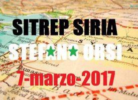 Situazione operativa sui fronti siriani del 7-3-2017