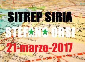 Situazione Operativa sui fronti siriani del 21-3-2017