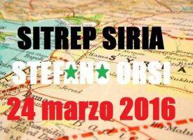 Situazione operativa sui fronti siriani del 24-3-2017