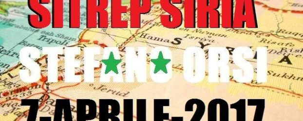 Situazione operativa sui fronti siriani al 7-4-2017