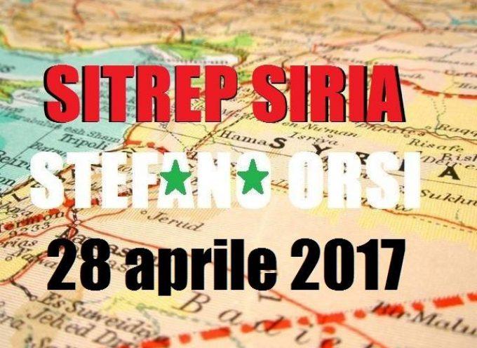 Situazione operativa sui fronti siriani al 28-4-2017