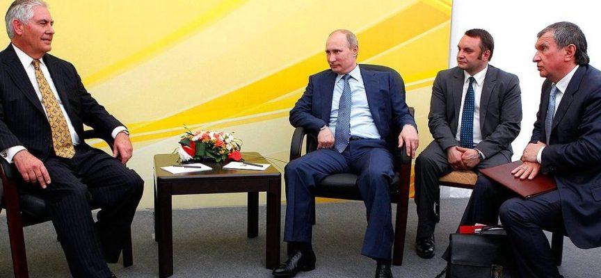 Rex Tillerson incontra il Ministro degli Esteri Lavrov e il Presidente Putin