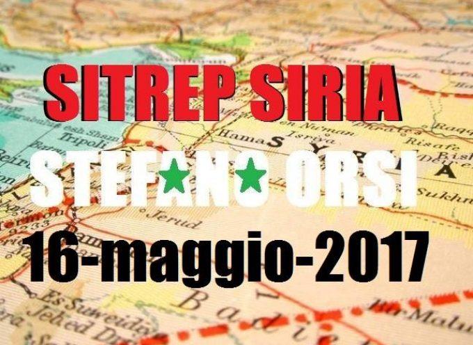 Situazione operativa sui fronti siriani al 16-5-2017