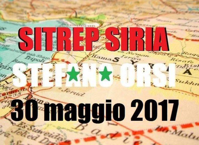 Situazione operativa sui fronti siriani al 30-05-17