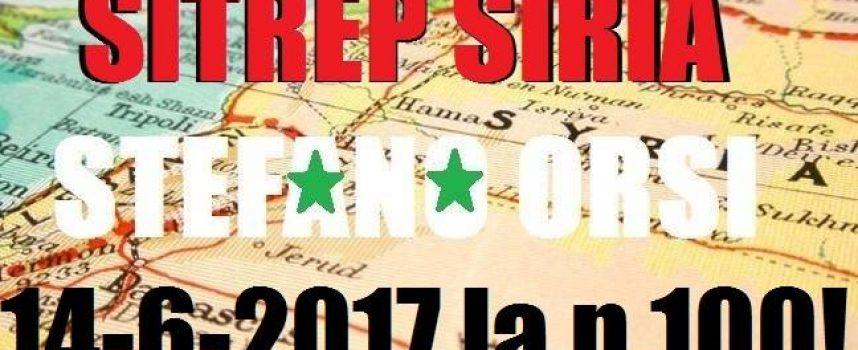 Situazione operativa sui fronti siriani del 14-6-2017 n. 100!!!