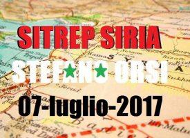 Situazione operativa sui fronti siriani del 7-7-2017