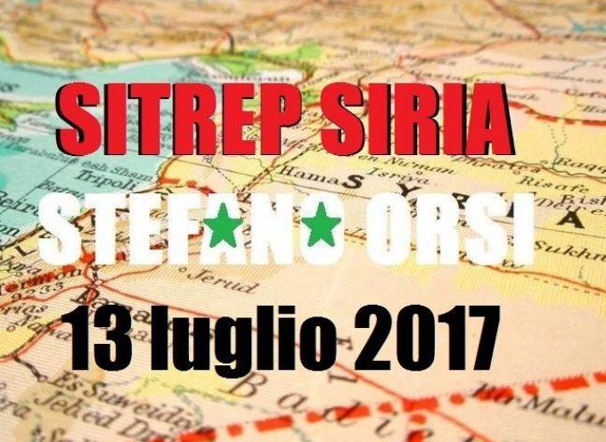Situazione operativa sui fronti siriani del 13-7-2017