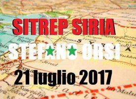 Situazione operativa sui fronti siriani del 21-7-2017