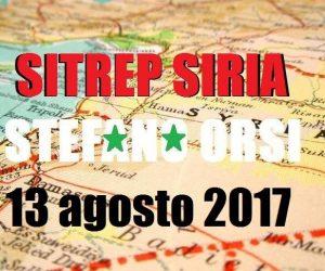 Situazione operativa sui fronti siriani al 13-8-2017
