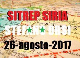 Situazione operativa sui fronti siriani del 26-8-2017