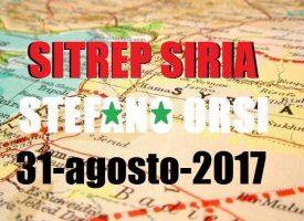 Situazione operativa sui fronti siriani al 31-8-2017