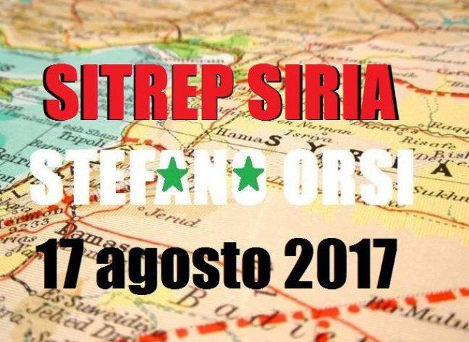 Situazione operativa sui fronti siriani del 17-8-2017