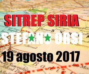 Situazione operativa sui fronti siriani al 19-8-2017