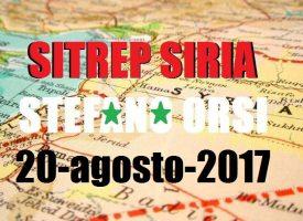 Situazione operativa sui fronti siriani del 20-8-2017