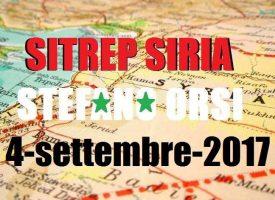 Situazione operativa sui fronti siriani al 4-9-2017
