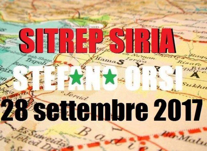 Situazione operativa dai fronti siriani del 28-9-2017