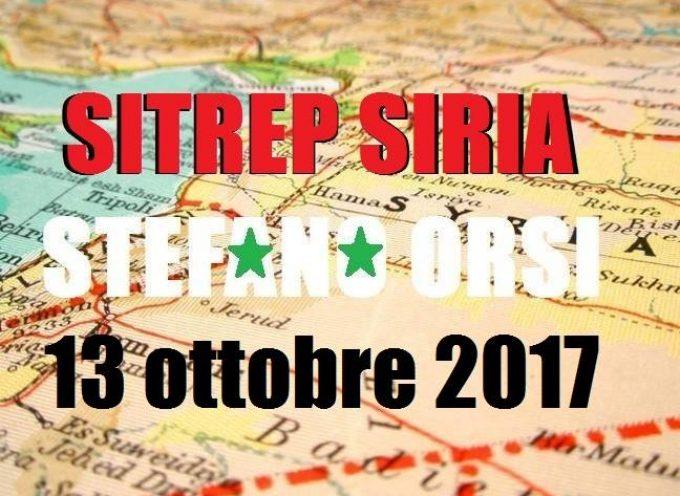 Situazione operativa sui fronti siriani del 13-10-2017