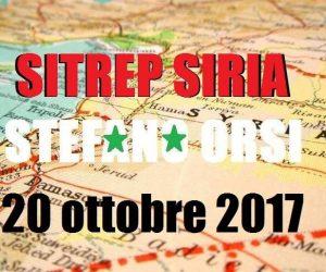 Situazione operativa sui fronti siriani al 20-10-2017