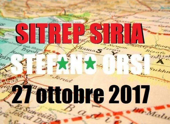 Situazione operativa sui fronti siriani del 27-10-2017